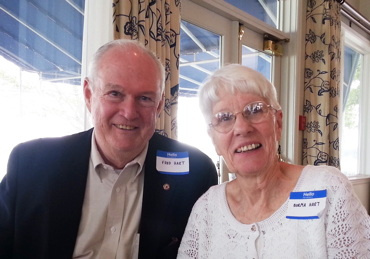 Fred Hart and wife Norma at his 60th Norwalk High School class reunion in 2014